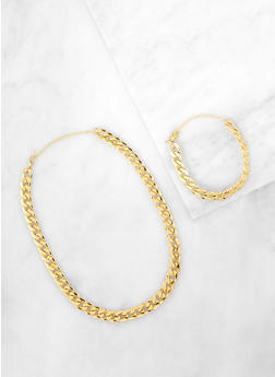 Chain Necklace with Bracelet - 1138071439191