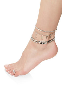 Love Anklet Trio with Toe Ring - 1138072690000