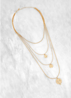 Womens Gold Coin Necklace