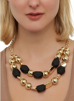 Two Row Beaded Necklace - 1138074751936