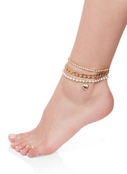 Anklet Trio with Toe Ring - 1138074978003