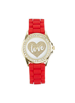 Love Face Silicone Watch - 1140007008888