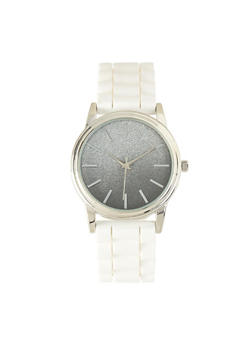 Ombre Glitter Watch | White - 1140007008899