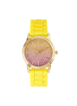 Ombre Glitter Watch | Yellow - 1140007008900