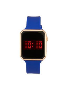 Rectangular Metallic LED Watch - 1140007009168