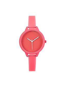 Neon Skinny Strap Watch - 1140007009411