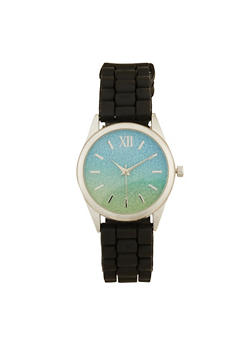 Two Tone Glitter Watch - 1140007009412