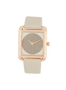 Glitter Square Watch - 1140007009431