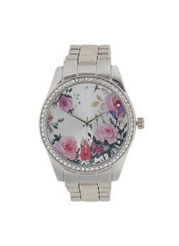 Floral Metallic Watch - 1140048991834