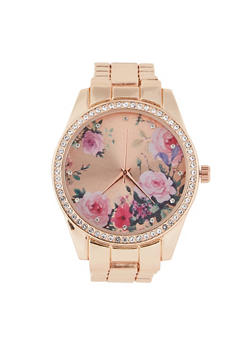 Floral Metallic Watch - 1140048991834
