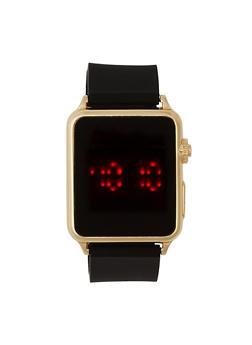 Metallic Square LED Watch - 1140048993097