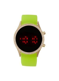 Round Bezel LED Watch - 1140048993211