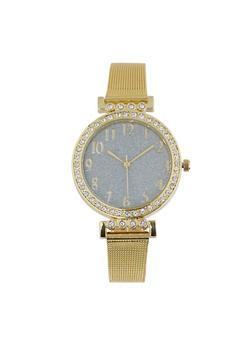 Glitter Face Metallic Mesh Watch | 1140071430515 - 1140071430515