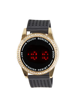 Perforated Band Round Watch - 1140071430522
