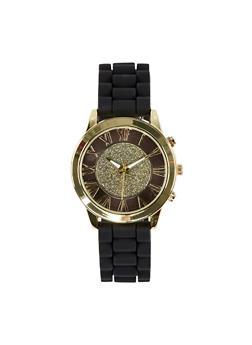Glitter Roman Numeral Silcone Watch - 1140071430613