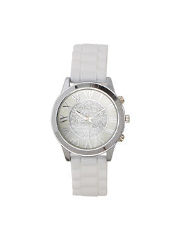 Glitter Roman Numeral Silcone Watch - 1140071430613