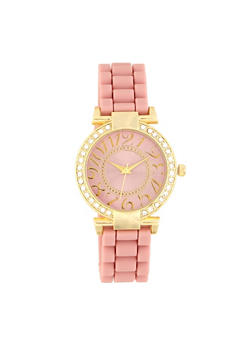 Rhinestone Bezel Watch   1140071430682 - 1140071430682