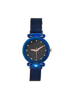 Glitter Face Mesh Watch - 1140071430931