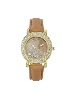Floating Rhinestone Watch - 1140071431223