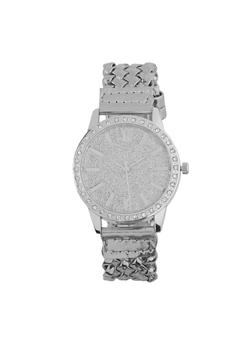 Glitter Face Woven Watch - 1140071431299
