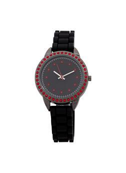 Rhinestone Studded Watch - 1140071431324