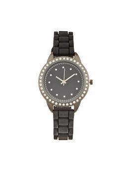 Rhinestone Studded Watch - 1140071431324
