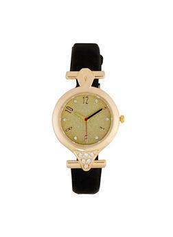 Metallic Bezel Watch - 1140071431931