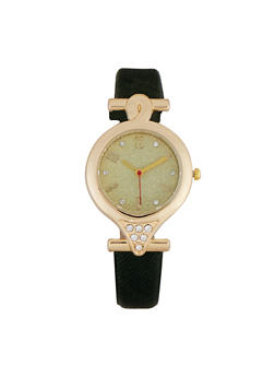 Metallic Bezel Watch - 1140071431931