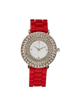Rhinestone Bezel Silicone Watch | 1140071432973 - 1140071432973