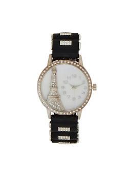 Eiffel Tower Rhinestone Watch - 1140071432990