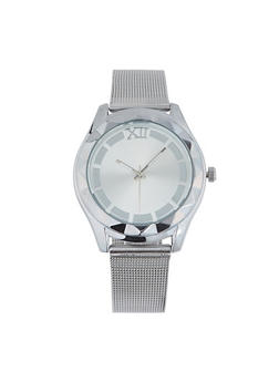 Metallic Mesh Watch - 1140071433484