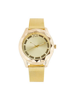 Metallic Mesh Watch - 1140071433484
