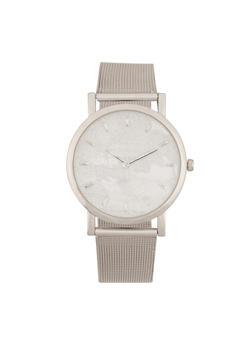 Glitter Face Metallic Mesh Watch - 1140071433899