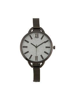 Skinny Metal Mesh Strap Watch - 1140071436681