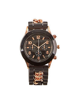 Metallic Chain Silicone Watch - 1140071437797