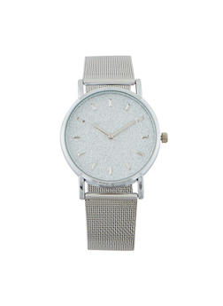 Metallic Mesh Glitter Watch - 1140071438524