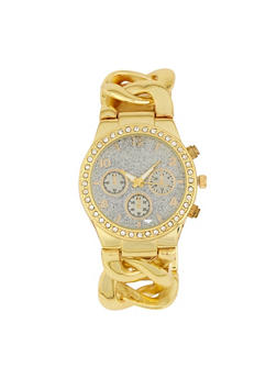 Glitter Face Chain Strap Watch - 1140071438574