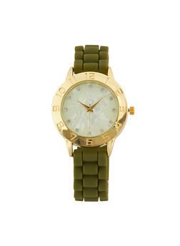 Silicone Woven Rhinestone Watch - 1140071439031