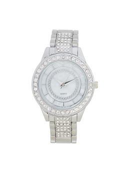 Rhinestone Metallic Band Watch - 1140072184576