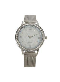 Round Metallic Mesh Watch - 1140072692227