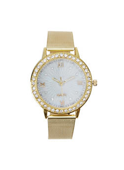 Round Metallic Mesh Watch - 1140072692227
