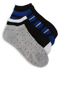 Set of 4 Ankle Socks - NAVY - 1143041450019