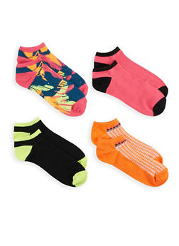 Assorted Set of 4 Ankle Socks - 1143041450319