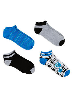 Set of 4 Assorted Ankle Socks - 1143041451018