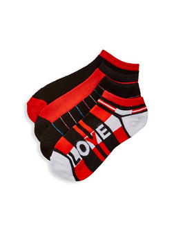 Set of 4 Assorted Love Ankle Socks - 1143041451119
