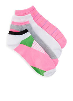 Assorted Pack of 4 Ankle Socks | 1143041451419 - PINK - 1143041451419