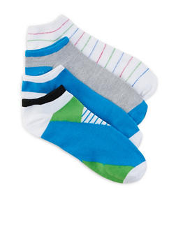 Assorted Pack of 4 Ankle Socks | 1143041451419 - BLUE - 1143041451419