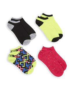 Set of 4 Assorted Ankle Socks - 1143041451618