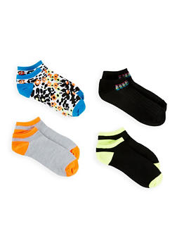 Set of 4 Printed Ankle Socks - 1143041451818