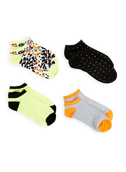 Set of 4 Printed Ankle Socks - 1143041451819